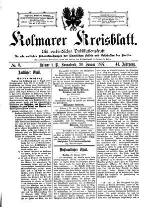 Kolmarer Kreisblatt on Jan 30, 1897