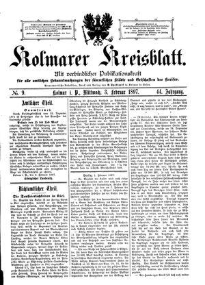 Kolmarer Kreisblatt vom 03.02.1897