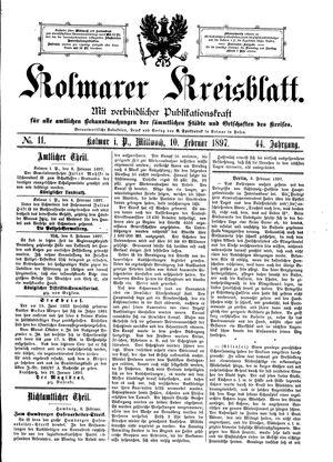 Kolmarer Kreisblatt vom 10.02.1897