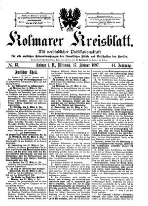 Kolmarer Kreisblatt on Feb 17, 1897