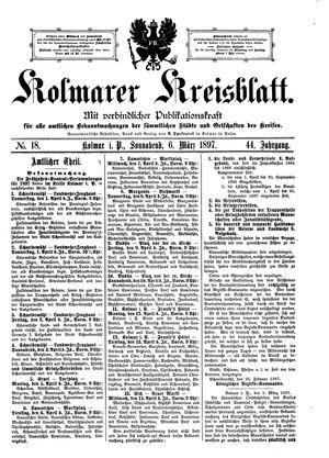 Kolmarer Kreisblatt vom 06.03.1897