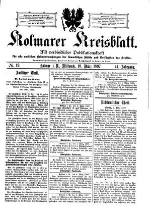 Kolmarer Kreisblatt on Mar 10, 1897