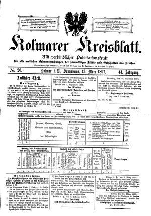 Kolmarer Kreisblatt vom 13.03.1897