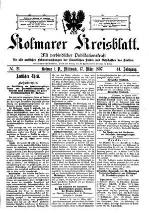 Kolmarer Kreisblatt vom 17.03.1897