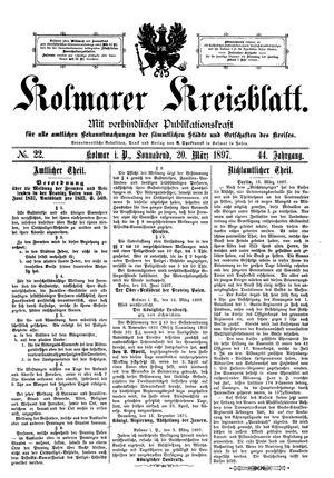 Kolmarer Kreisblatt vom 20.03.1897