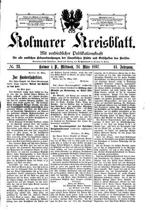 Kolmarer Kreisblatt vom 24.03.1897
