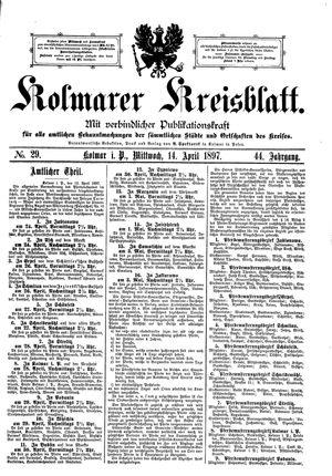 Kolmarer Kreisblatt vom 14.04.1897