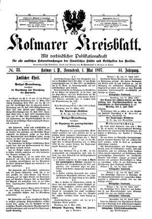 Kolmarer Kreisblatt vom 01.05.1897