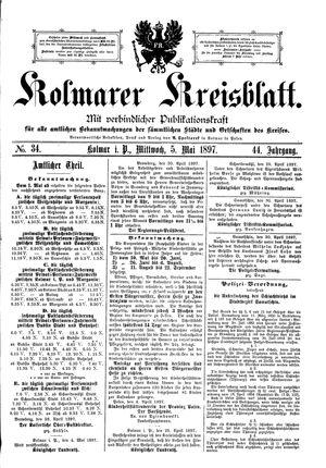 Kolmarer Kreisblatt on May 5, 1897