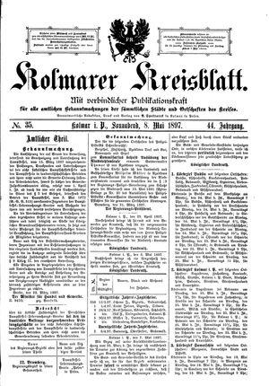Kolmarer Kreisblatt vom 08.05.1897