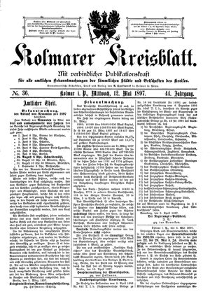 Kolmarer Kreisblatt on May 12, 1897
