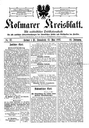 Kolmarer Kreisblatt vom 15.05.1897