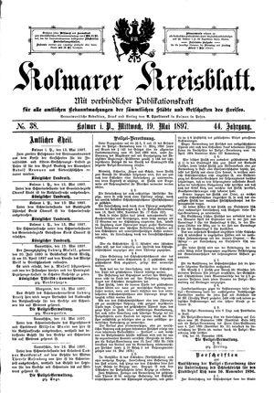 Kolmarer Kreisblatt vom 19.05.1897