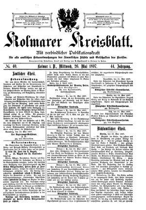 Kolmarer Kreisblatt vom 26.05.1897