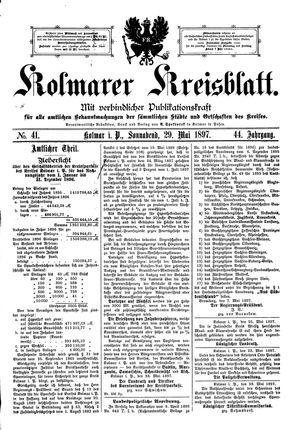 Kolmarer Kreisblatt vom 29.05.1897