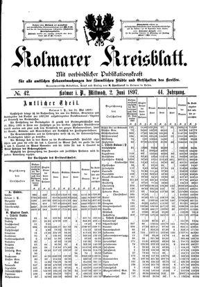 Kolmarer Kreisblatt vom 02.06.1897
