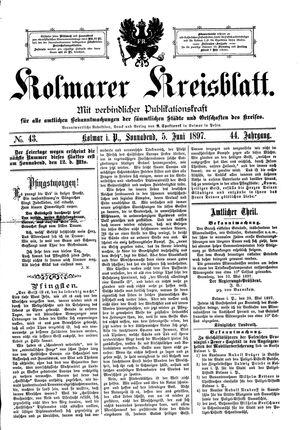 Kolmarer Kreisblatt vom 05.06.1897