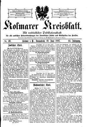 Kolmarer Kreisblatt vom 19.06.1897