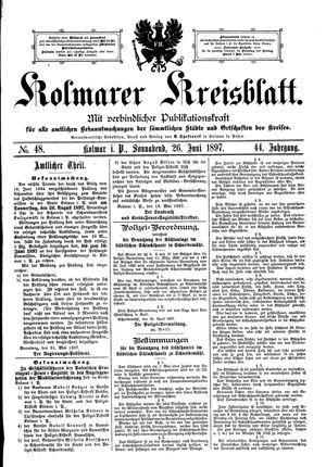 Kolmarer Kreisblatt on Jun 26, 1897