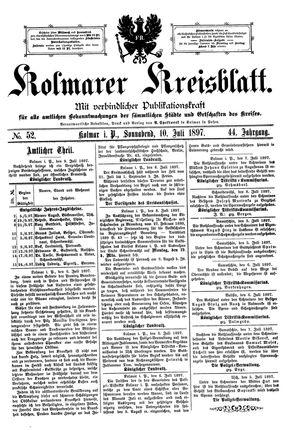 Kolmarer Kreisblatt vom 10.07.1897