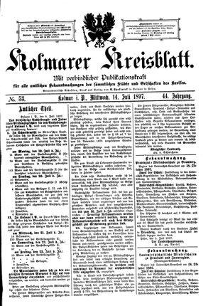 Kolmarer Kreisblatt vom 14.07.1897