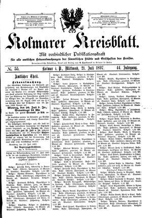 Kolmarer Kreisblatt on Jul 21, 1897