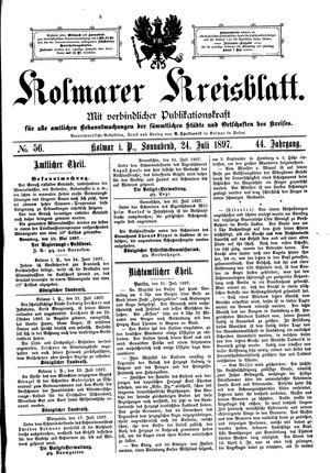Kolmarer Kreisblatt vom 24.07.1897