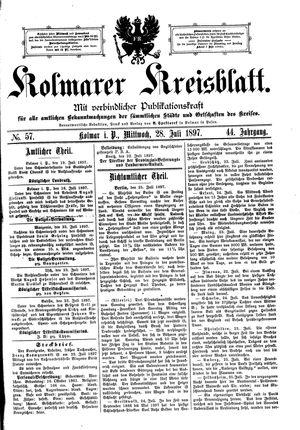 Kolmarer Kreisblatt vom 28.07.1897
