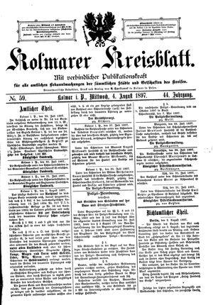 Kolmarer Kreisblatt vom 04.08.1897