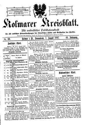 Kolmarer Kreisblatt vom 07.08.1897
