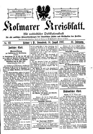 Kolmarer Kreisblatt vom 14.08.1897
