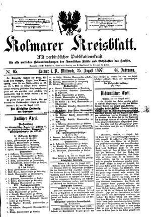 Kolmarer Kreisblatt vom 25.08.1897