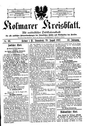 Kolmarer Kreisblatt vom 28.08.1897