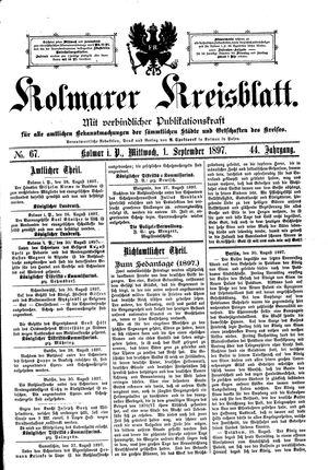 Kolmarer Kreisblatt vom 01.09.1897