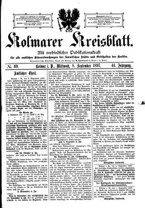 Kolmarer Kreisblatt vom 08.09.1897