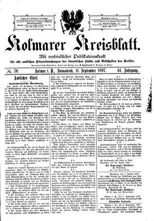 Kolmarer Kreisblatt on Sep 11, 1897