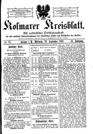 Kolmarer Kreisblatt on Sep 29, 1897