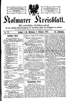 Kolmarer Kreisblatt on Oct 6, 1897