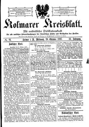 Kolmarer Kreisblatt on Oct 20, 1897