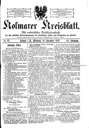 Kolmarer Kreisblatt vom 10.11.1897