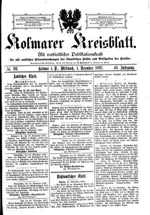 Kolmarer Kreisblatt vom 01.12.1897