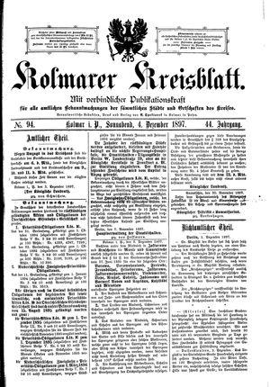 Kolmarer Kreisblatt vom 04.12.1897