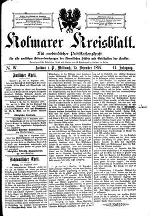 Kolmarer Kreisblatt vom 15.12.1897