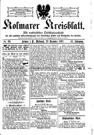 Kolmarer Kreisblatt vom 22.12.1897