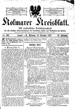 Kolmarer Kreisblatt on Dec 29, 1897