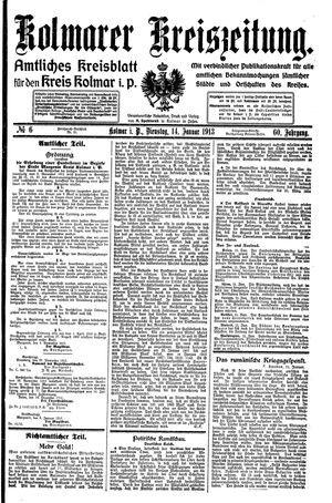 Kolmarer Kreiszeitung vom 14.01.1913