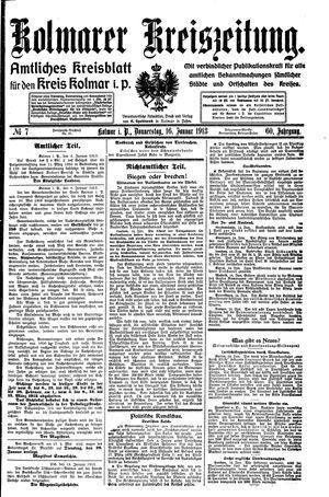 Kolmarer Kreiszeitung on Jan 16, 1913