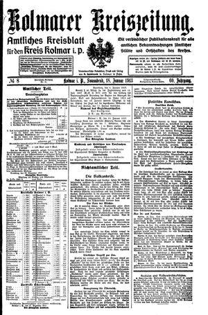 Kolmarer Kreiszeitung vom 18.01.1913
