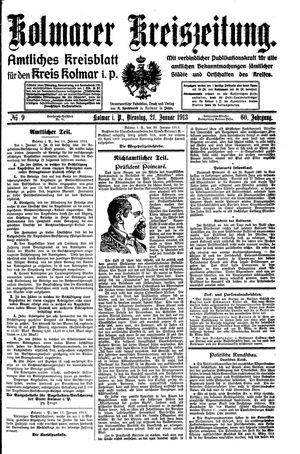 Kolmarer Kreiszeitung vom 21.01.1913