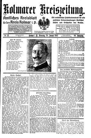 Kolmarer Kreiszeitung vom 28.01.1913